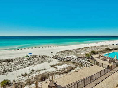 Photo for VC302 NEWLY updated 4-bedrooms, gulf front,Beach chairs service included!