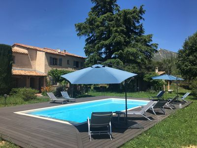 Photo for Provençal bastide in its green setting, pool 10mx5m,6000m² leafy closed park