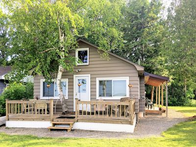 Photo for True Up North Lake getaway right on the lake!