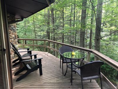 Photo for Secluded Mountain Cabin with Stone Fireplace on 8 acres