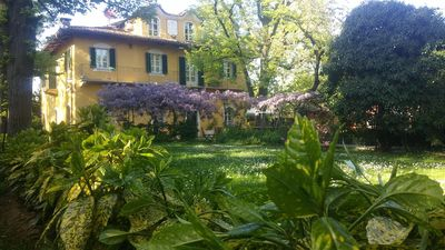 Photo for Red room in Villa Mirano Bed and BreakFast Piossasco - Turin - Piedmont