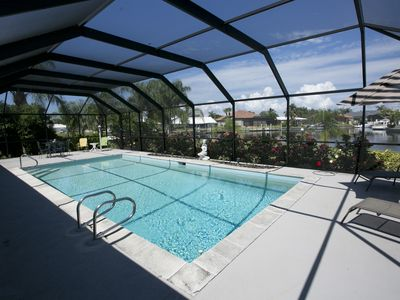 Photo for Waterfront Pool Home Seasonal In Sunny Southwest Florida