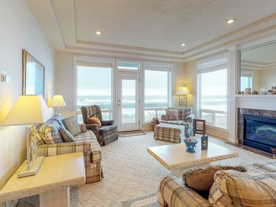 Photo for Dog-friendly, waterfront townhouse w/ a private hot tub & striking ocean views!