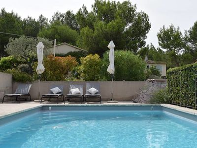 Photo for Beautiful villa for 8 persons, swimming pool and nice garden on Pont Royal