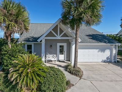 Photo for Oceanfront home with two balconies overlooking the Atlantic.  Near St. Augustine