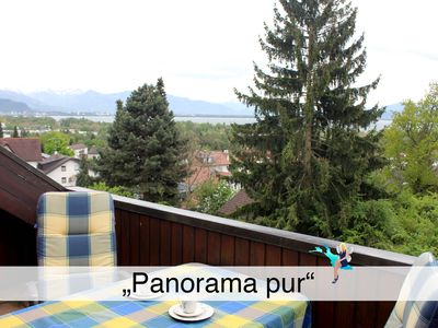 Photo for Cozy, in a quiet location with loggia in Lindau, overlooking Lindau and the mountains.