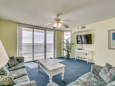 Photo for Crescent Shores 601, 4 Bedroom Beachfront Condo, Hot Tub and Free Wi-Fi!