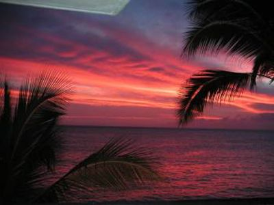 Photo for ROMANTIC BEACHFRONT CONDO FOR 2-BEST BEACH-FANTASTIC SUNSETS-FREE PKG/WiFi-K BED