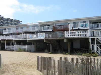 Photo for Ocean Front Townhome Sleeps 10 In Beds Short Walk To Ocean City Maryland Boardwalk