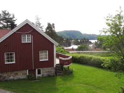 Photo for Cottage with large garden for 7 people at the Trysfjord