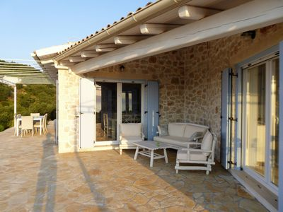 Photo for Beautiful new stone villa, Yaneleni, is nestled in the olive grove with wond