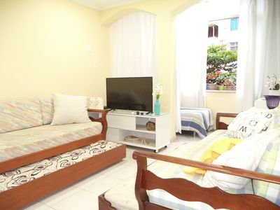 Photo for Excellent 3 bedrooms (up to 9 people), steps from Copacabana beach, air conditioning