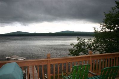 view of lake from front deck