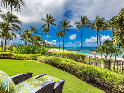 Photo for Premier BEACH FRONT, Ko Olina Villa. You can't get any closer than this!