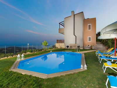 Photo for 2 berdroom villa with private pool in Triopetra, views to Libyan sea!Dim