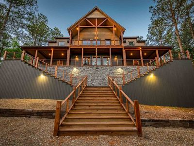 Photo for WOW! Luxury cabin for BIG families- 6Bed/6Bath/Game Room/Sleeps20