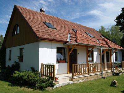 Photo for Comfortable apartment with private terrace, 150 m from the beach and the lake Lipno