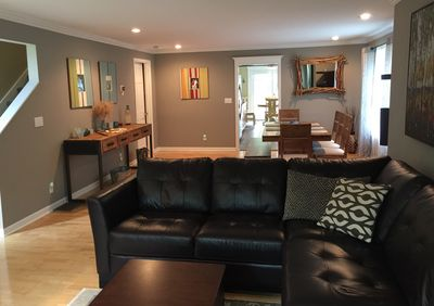 Spacious living room and dining room..open floor plan.