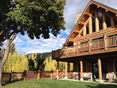 Photo for Beautiful Log Home Overlooking Flathead Lake. Now booking for 2020!