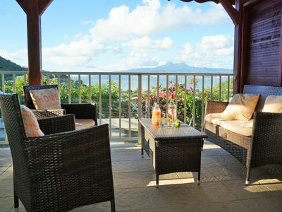 Photo for Les Trois Ilets: T2 Balisier with panoramic views over the bay of Fort de France