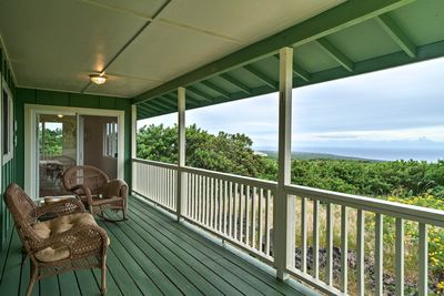 You'll love spending time on this expansive lanai.