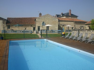 Photo for 3 newly renovated gites with swimming pool near Richelieu