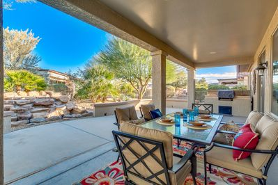 Enjoy the amazing AZ weather in your own outdoor living area.