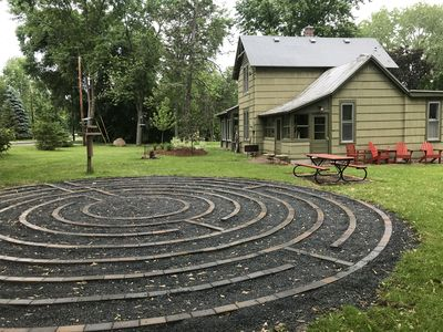 A walking Labyrinth in the yard!