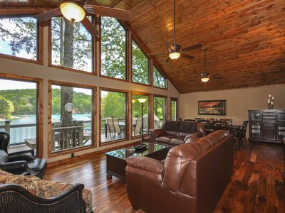 Photo for Lake Front Home, Theater Room, Dock, Mountain View, Swim-Fish-Boat