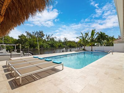 Photo for 40' Seasonally Heated Saltwater Lap Pool Intracoastal Island View FREE Dockage