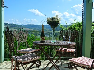 Photo for Wonderful views from a beautiful house on the edge of a medieval village.