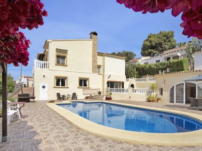 Photo for Lovely Villa Moraira Sleeps 8 with Private Pool Near Golf Course and Beaches