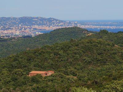Photo for Facing the Cannes Bay, a quiet house with greenery and swimming pool