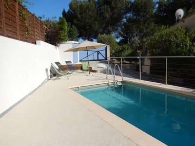 Photo for Villa 90 m2, Private Pool, 8 km from Cassis, wifi