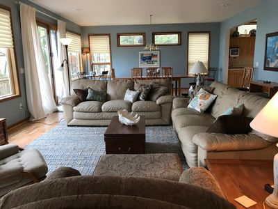 Photo for Deluxe 5 bedroom Lakefront home, Lake Huron, Sandy Beach, Wooded Point