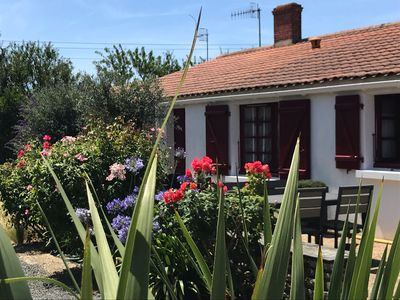 Photo for 6 minutes from the beach, for this charming farmhouse of 50m2 with enclosed garden