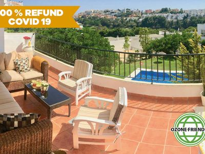 Photo for Disinfected Casa CLAUDIA: luxurious, 3 bedrooms, 4 pools, WIFI, AC, beach close