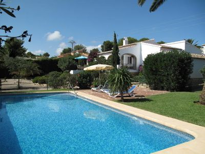 Photo for Javea, well equipped family villa with enclosed pool and WiFi