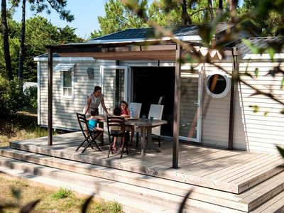 Photo for Camping Le Domaine des Pins **** - Mobile Home 4 Rooms 6 People Saturday / Saturday