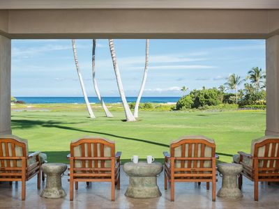 Photo for Stunning Ocean Views from the 18th Fairway at Hualalai Resort