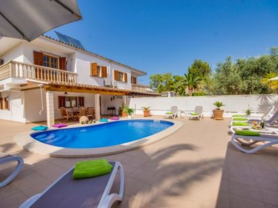 Photo for Playa de Muro Holiday Home, Sleeps 8 with Pool, Air Con and WiFi