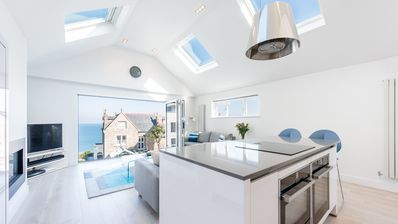 Photo for 1 The Coach House, St Ives - a duplex apartment with stunning sea views, parking and outside space