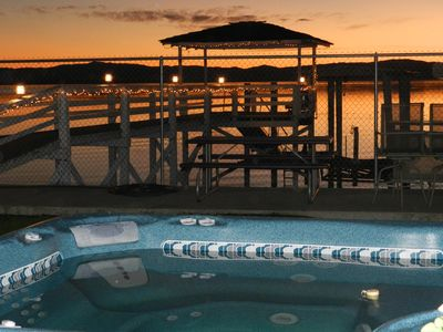 sit in the hot tub and enjoy a sunset with a glass of wine.
