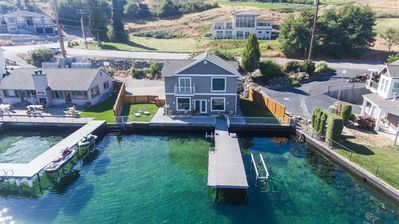 Photo for Lake Chelan Vacation Home with Private Dock, Boat lift, Great Location and Views!