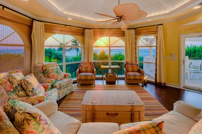 The sunsets are sensational even from inside the Villa