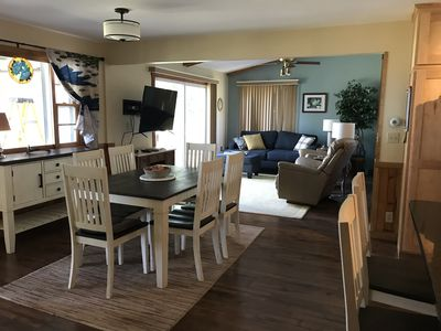 Great room and dining room