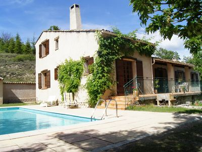 Photo for Fully private charming villa for families or 3 couples: pool and Jacuzzi