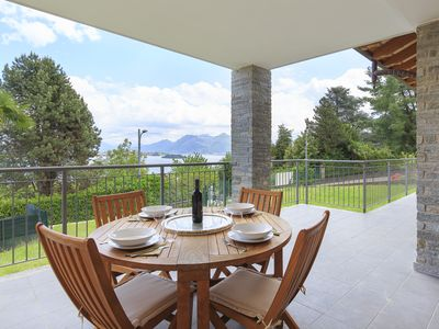 Photo for Baveno | Wonderful flat with terrace, garden and awesome view of Lake Maggiore