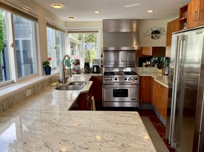 Gourmet kitchen with stone counters
