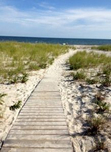 Private Walkway from Dune Road access to beach